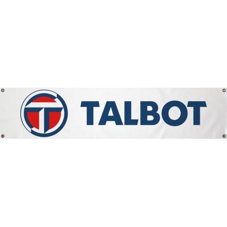Bannière Talbot Blanche 1300mm x 300mm
