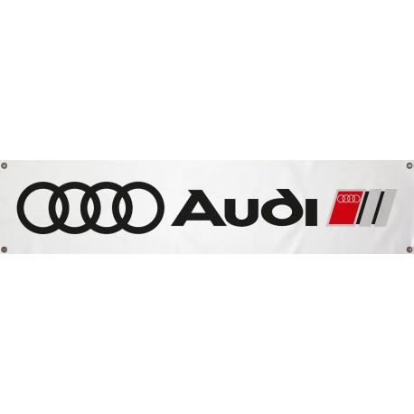 Bannière Audi Blanche 1300mm x 300mm